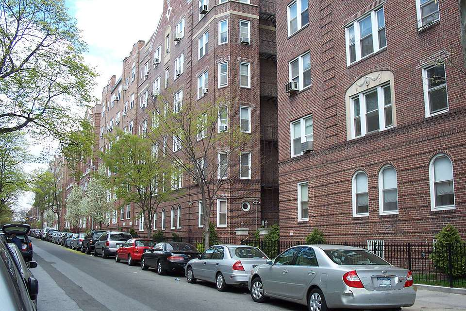 A typical residential street in Jackson Heights, Queens.