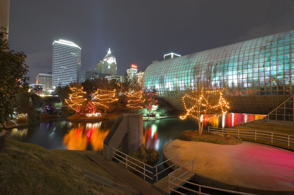 Myriad Gardens and Oklahoma City during the winter holidays