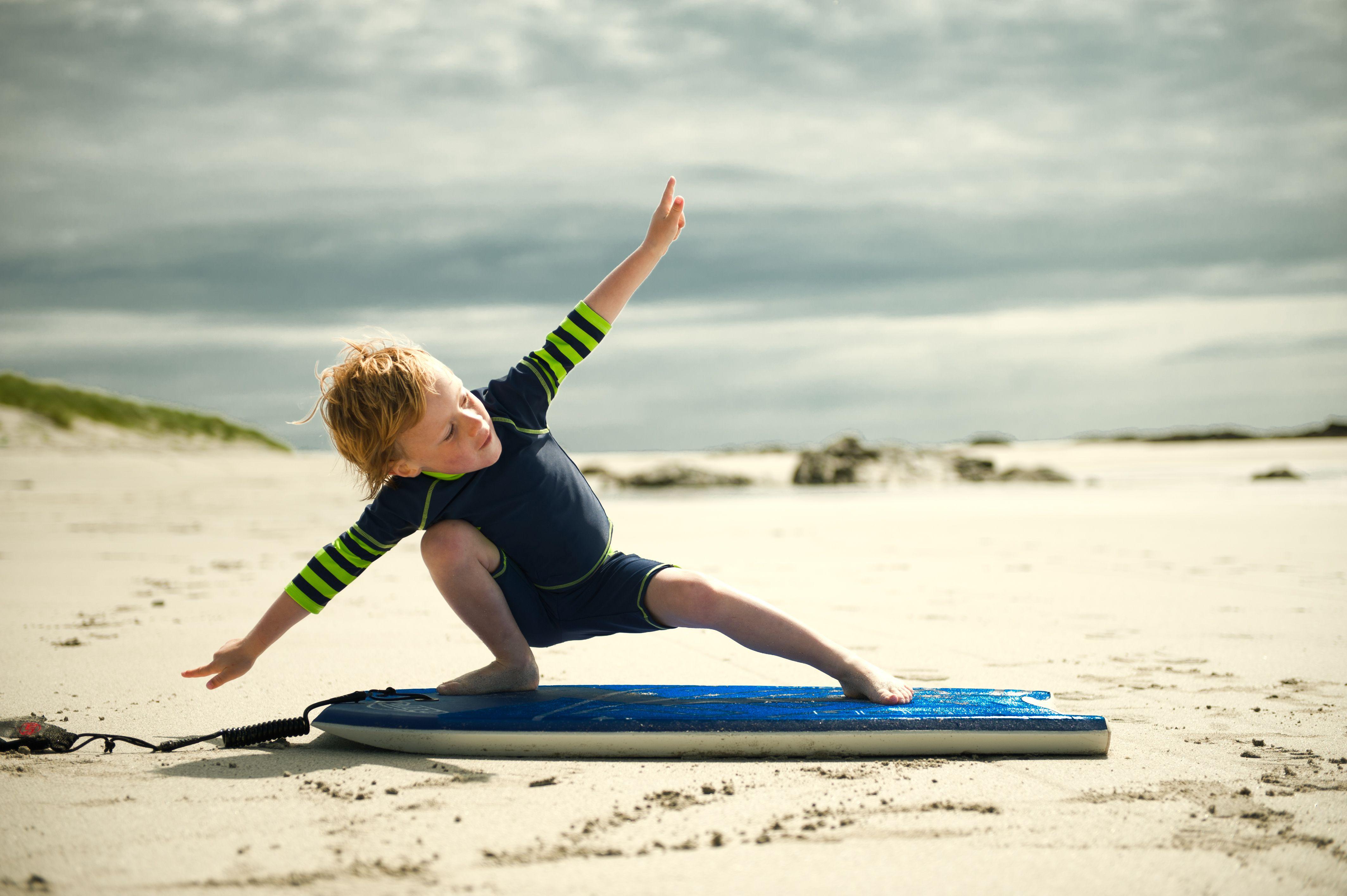 Little Boy Beach surfing