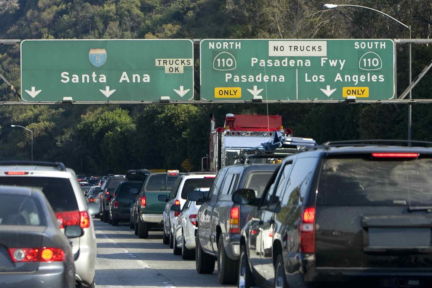 LA freeway signs