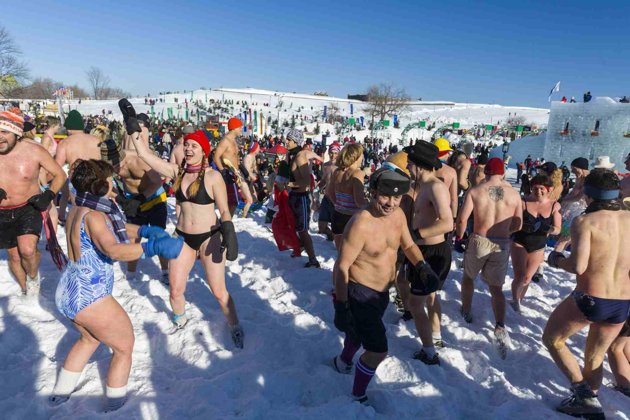 Snow Bath, Quebec Winter Carnival