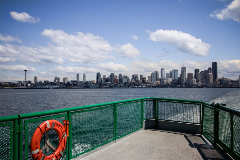 Ferry boat in Seattle, Washington