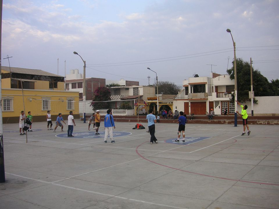 recreational volley ball in peru
