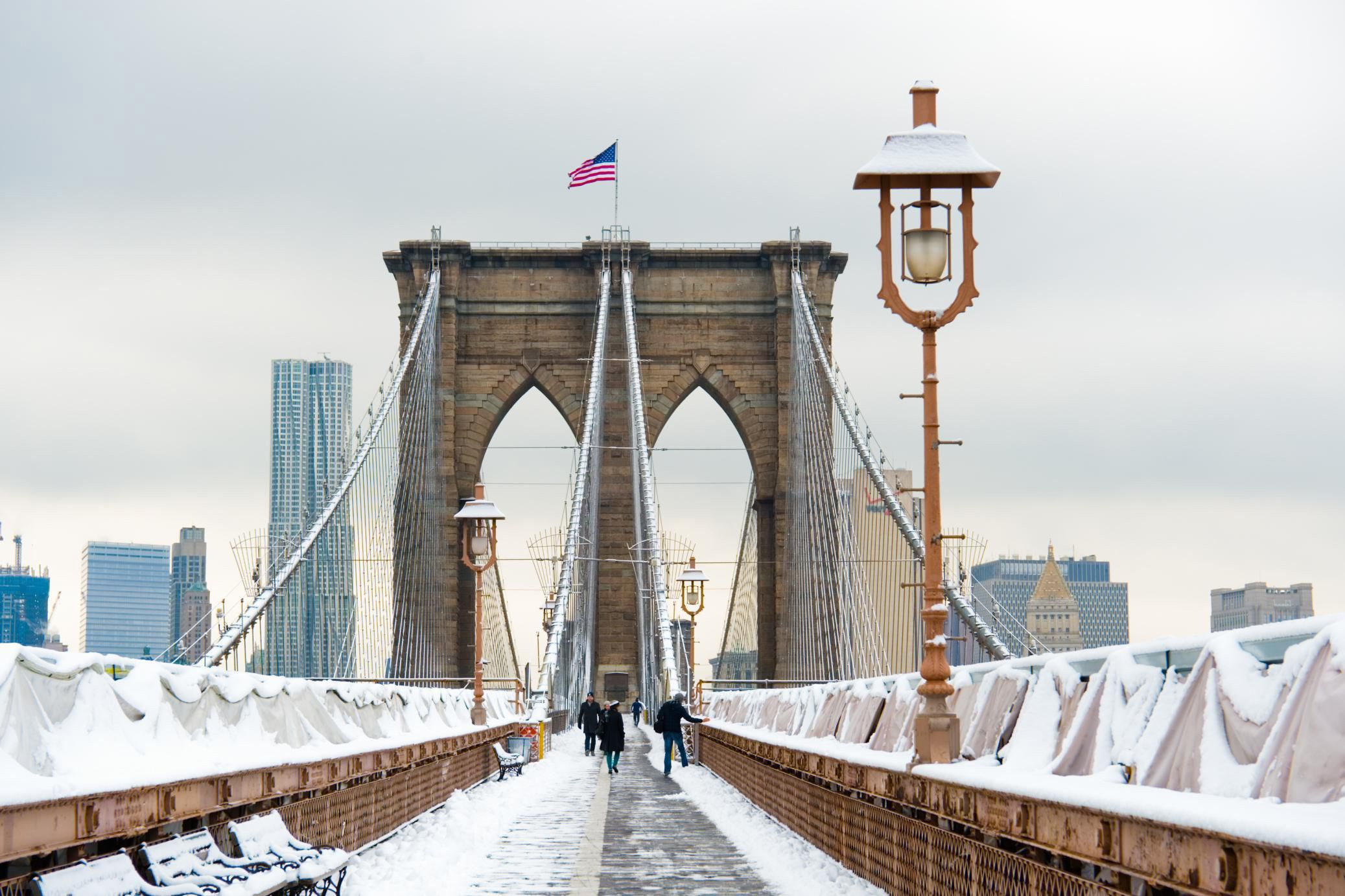 Image result for winter brooklyn bridge