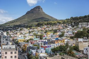 Lion's Head in Cape Town with Bo-Kaap in the foreground