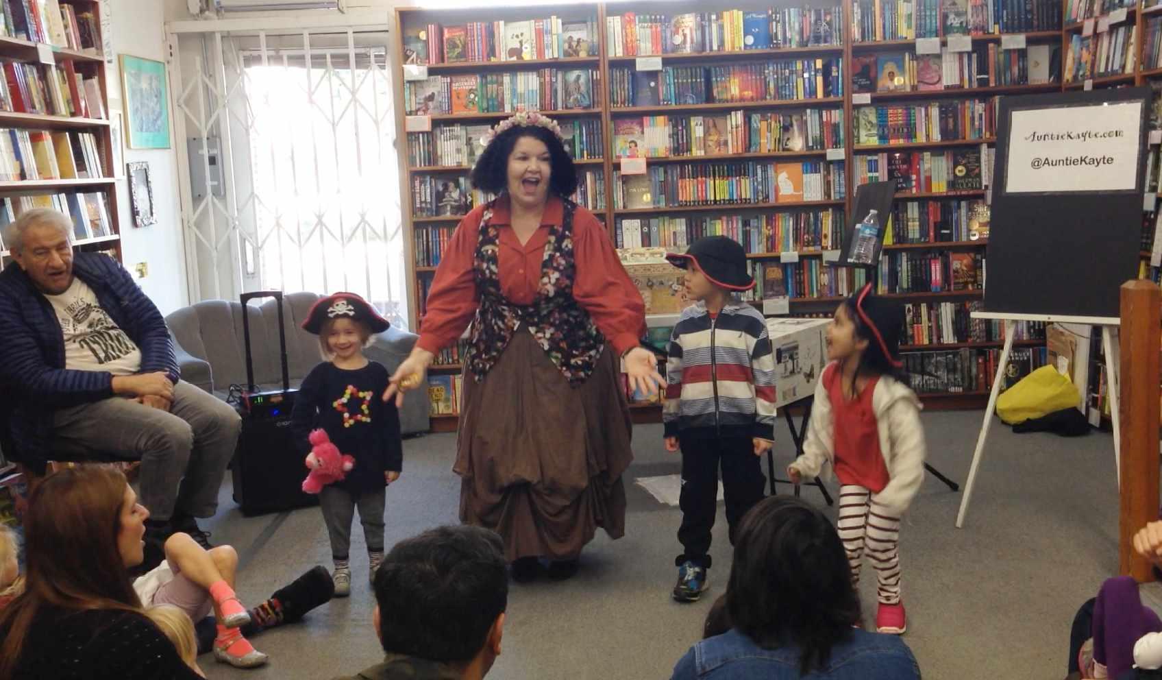 Auntie Kayte performing at Children's Book World