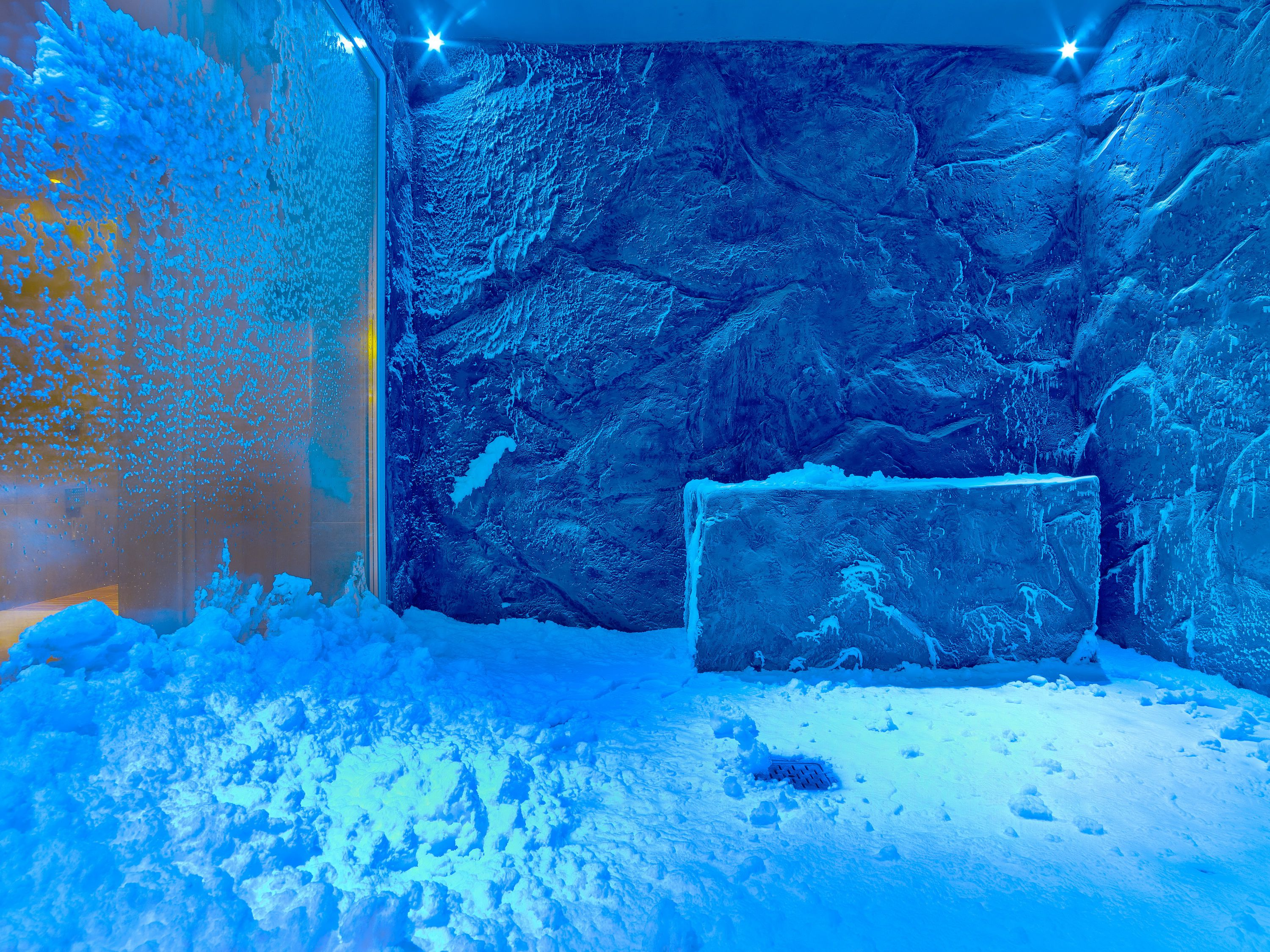 Snow grotto in the spa of the Viking Sea cruise ship