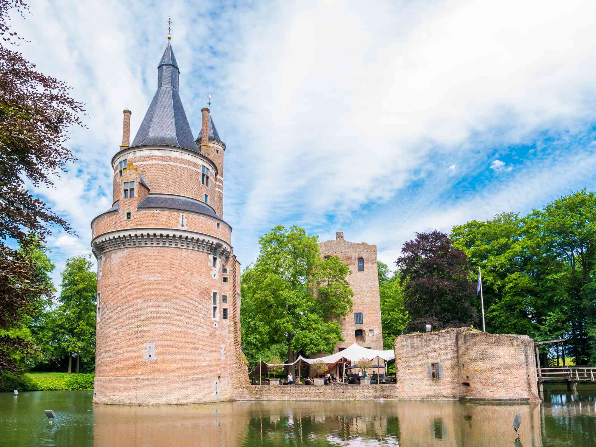 Duurstede castle with Burgundian tower and donjon in Wijk bij Duurstede, Netherlands