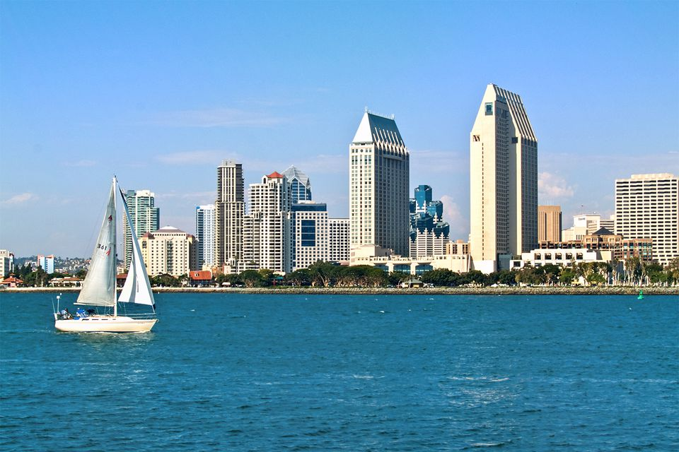Downtown San Diego from Coronado Island