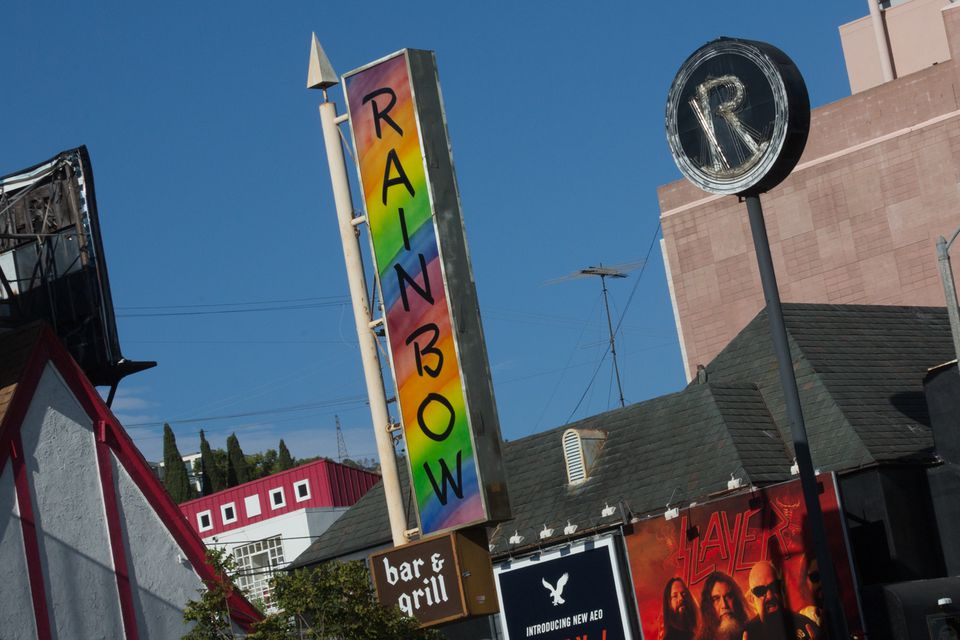 The Rainbow Bar & Grill on the Sunset Strip in West Hollywood