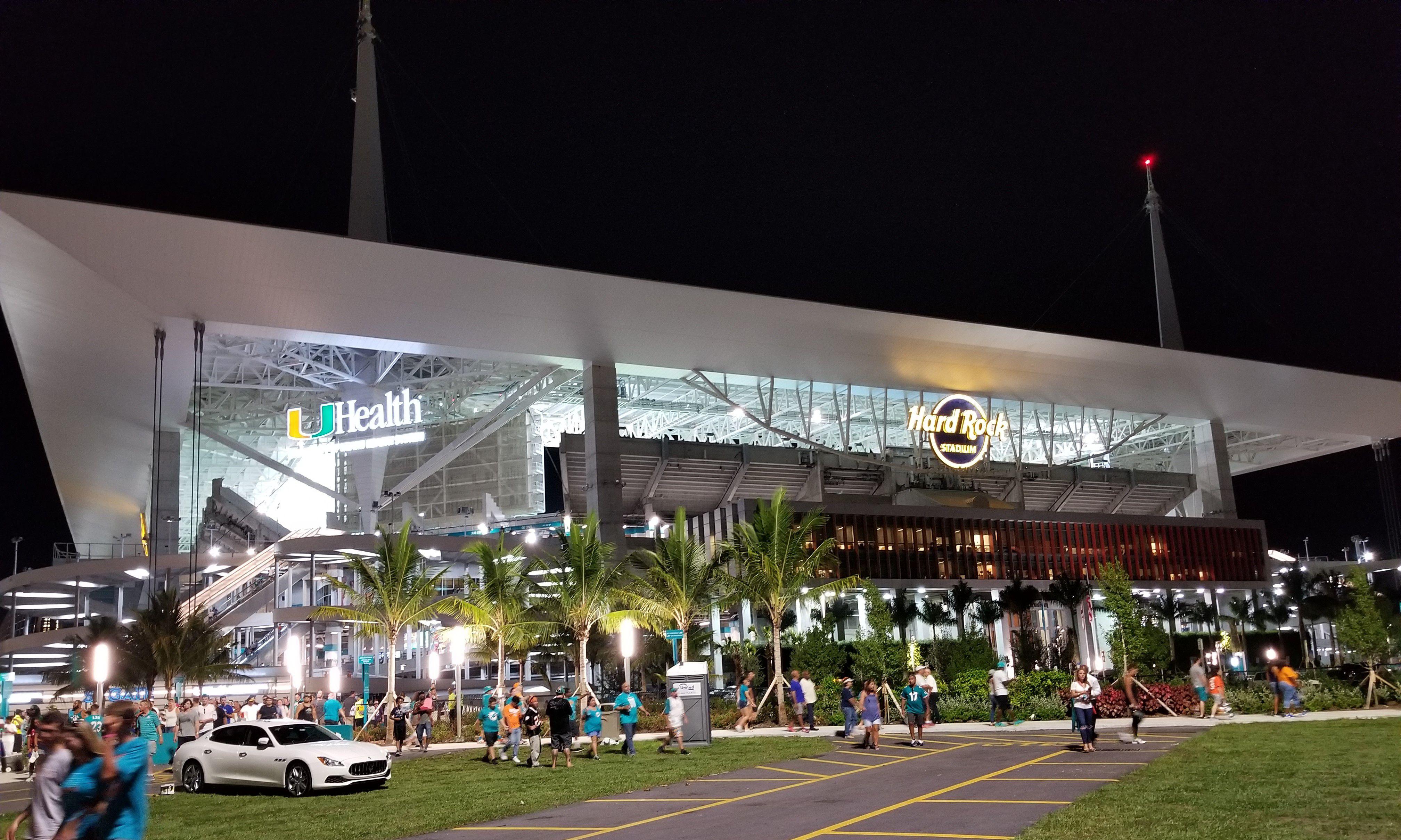 Outside Hard Rock Stadium, Miami