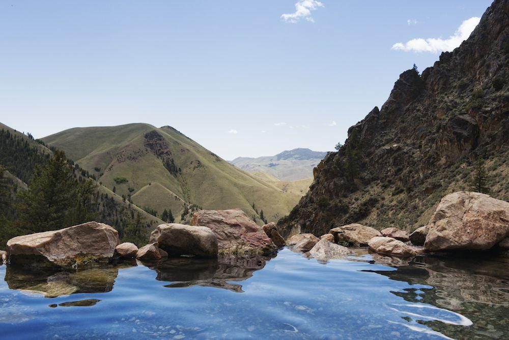 Hot Springs in Challis, Idaho