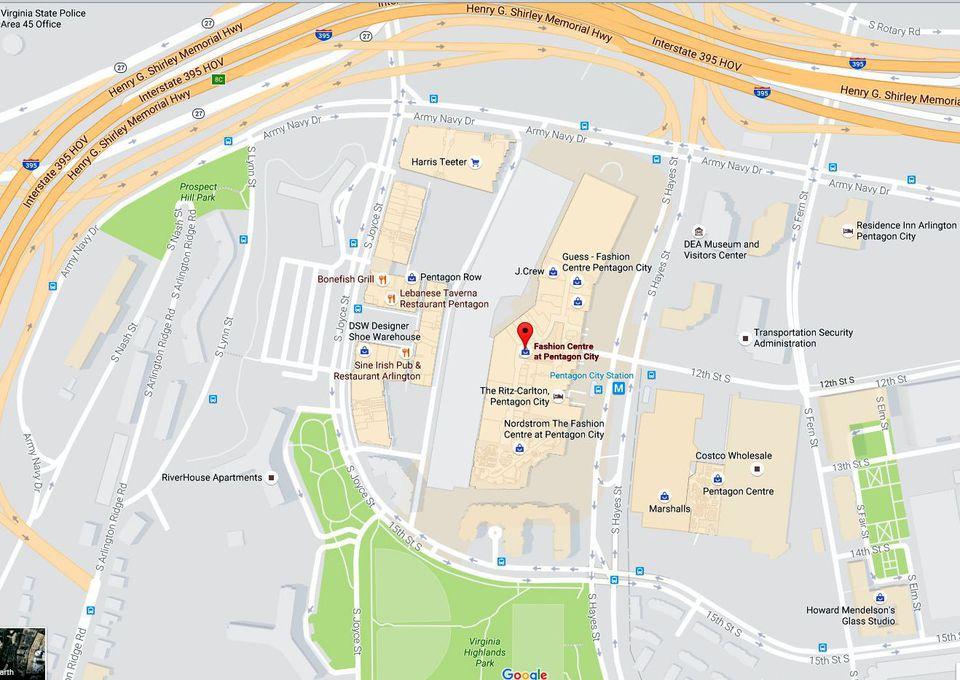 Mapa de la ciudad del Pentágono