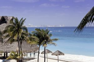 Beach in Cancun, Mexico