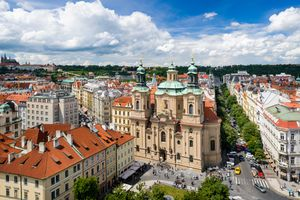 St. Nicholas Church at Old Town Square in Prague