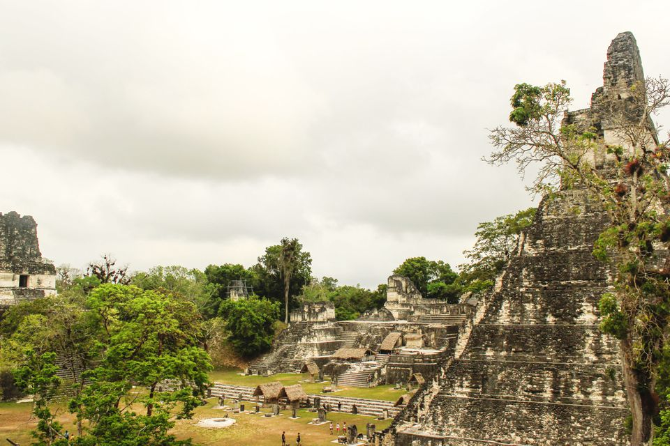 OVerview of the Tikal ruins site in Guatemala