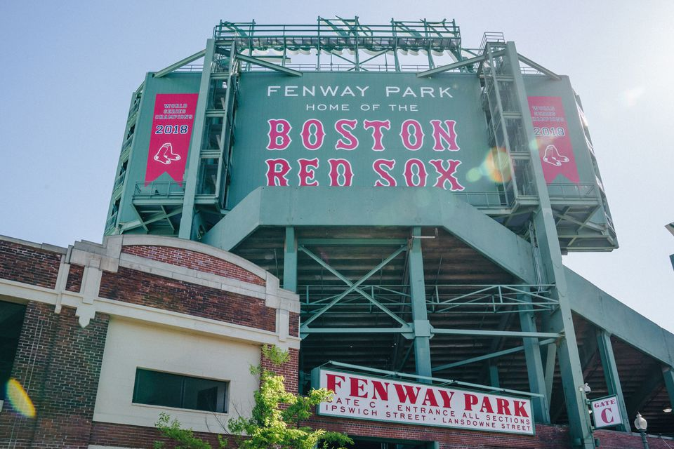 Main sign of Fenway Park