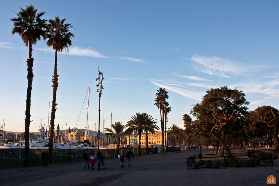 Barceloneta area of Barcelona