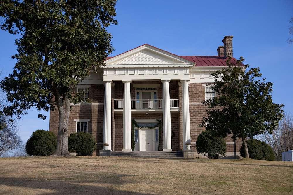 Tulip Grove Greek Revival home of Andrew Jackson Donelson, President Andrew Jackson's secretary at The Hermitage, Nashville, TN
