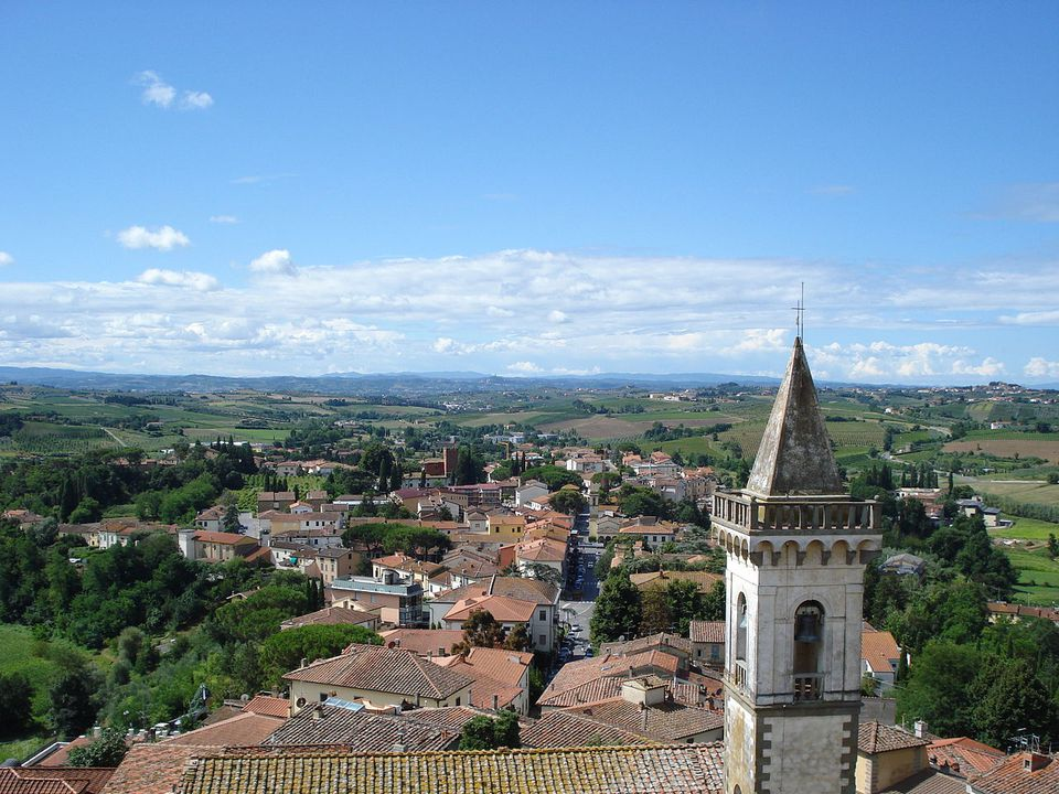 View from the Leonardo da Vinci Museum in Vinci, Tuscany