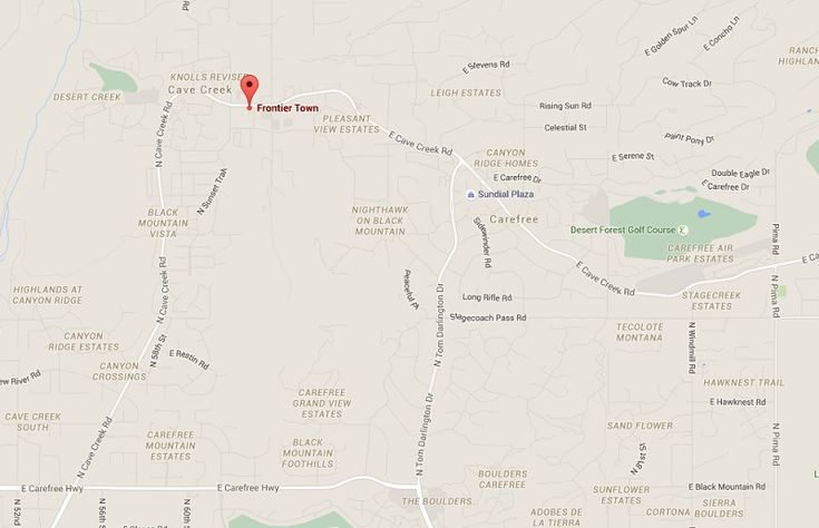 How to Find Cave Creek, Arizona Cave Creek Az Map on
