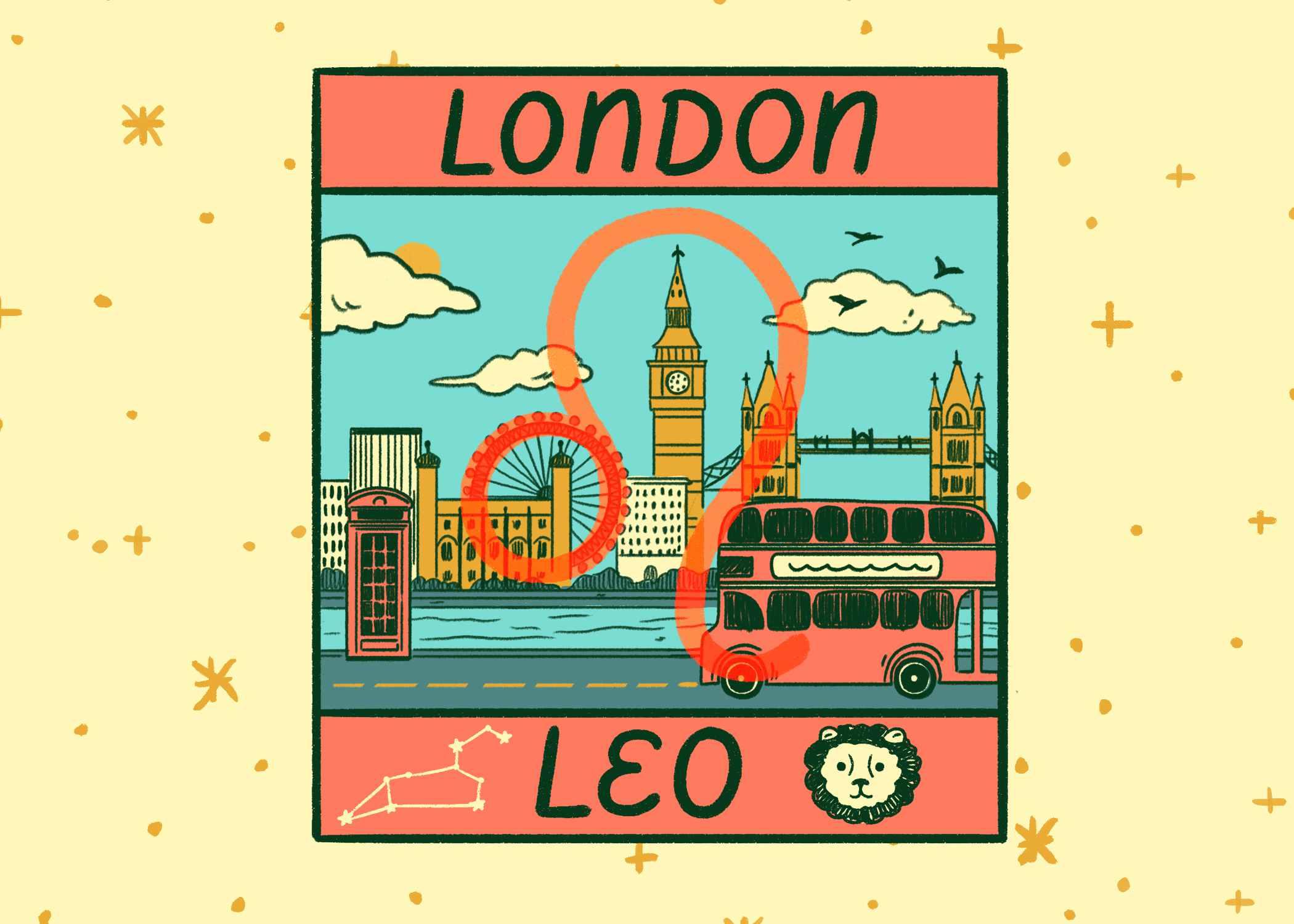 Illustration of London and Leo