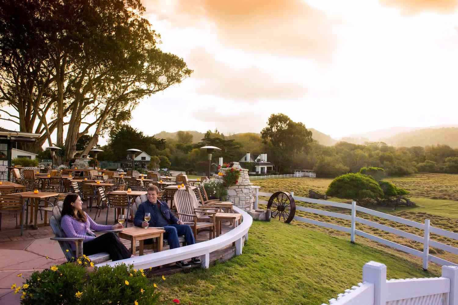 Sunset at Mission Ranch in Carmel California
