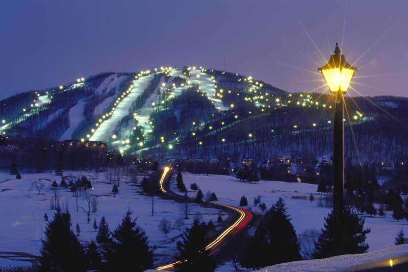 esquí nocturno montreal quebec bromont