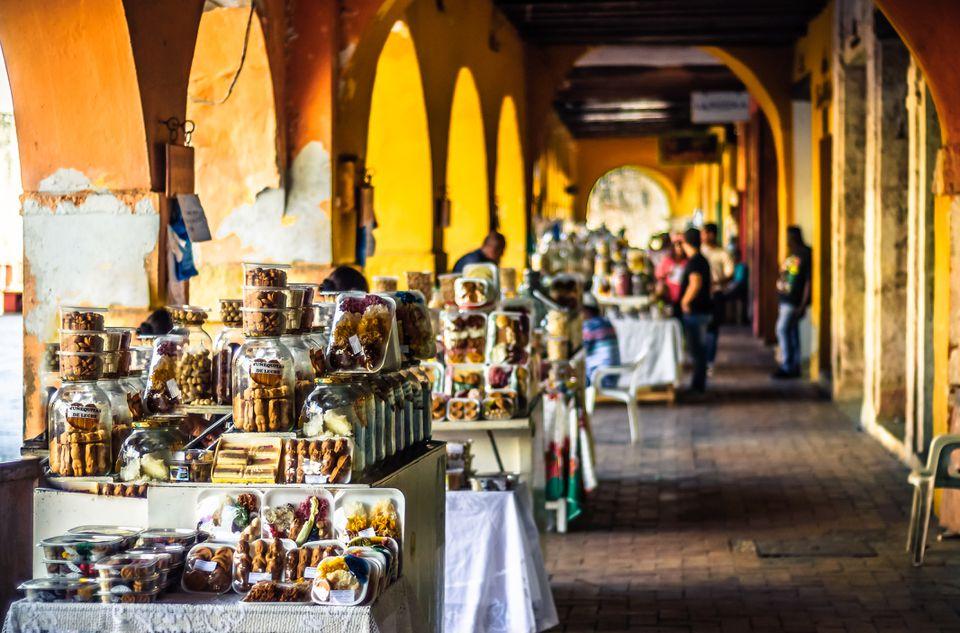 Sweet market by Portal de Los Dulces in Colombia