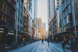 Early morning street scene in Sydney City