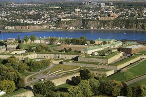 Aerial view of the Citadel, Quebec City, Quebec, Canada