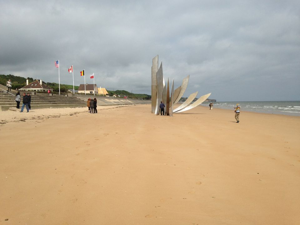 Go Ahead Tours travelers visit Omaha Beach in Normandy, France