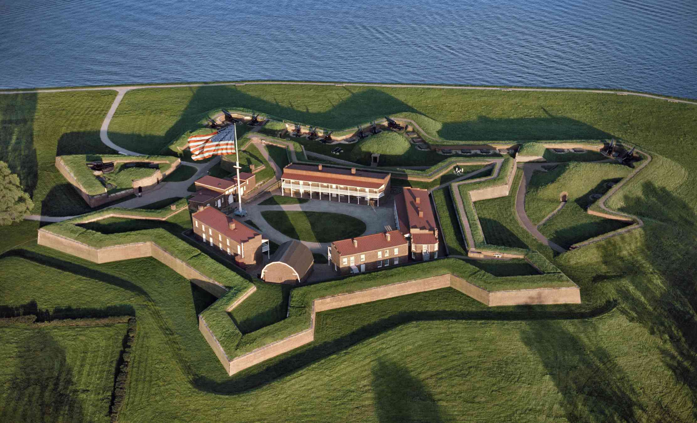 Aerial of Fort McHenry, N.M.