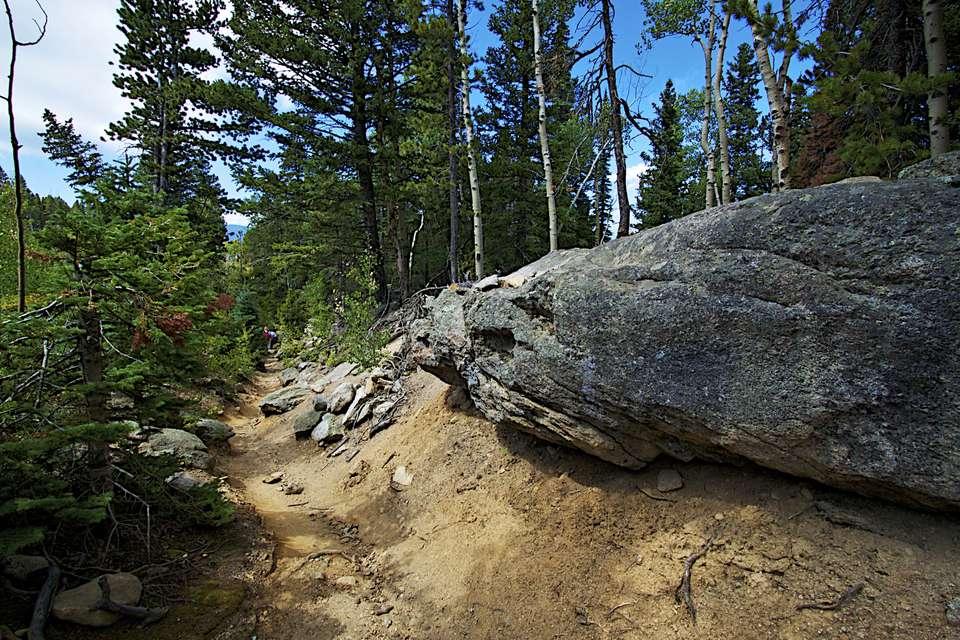vista de una ruta de senderismo en Colorado