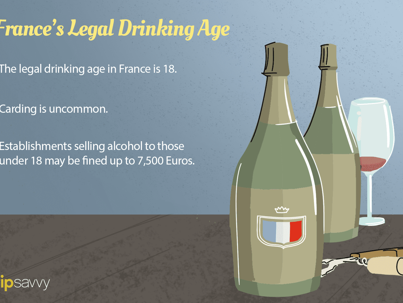 What Is the Legal Drinking Age in France and Paris?