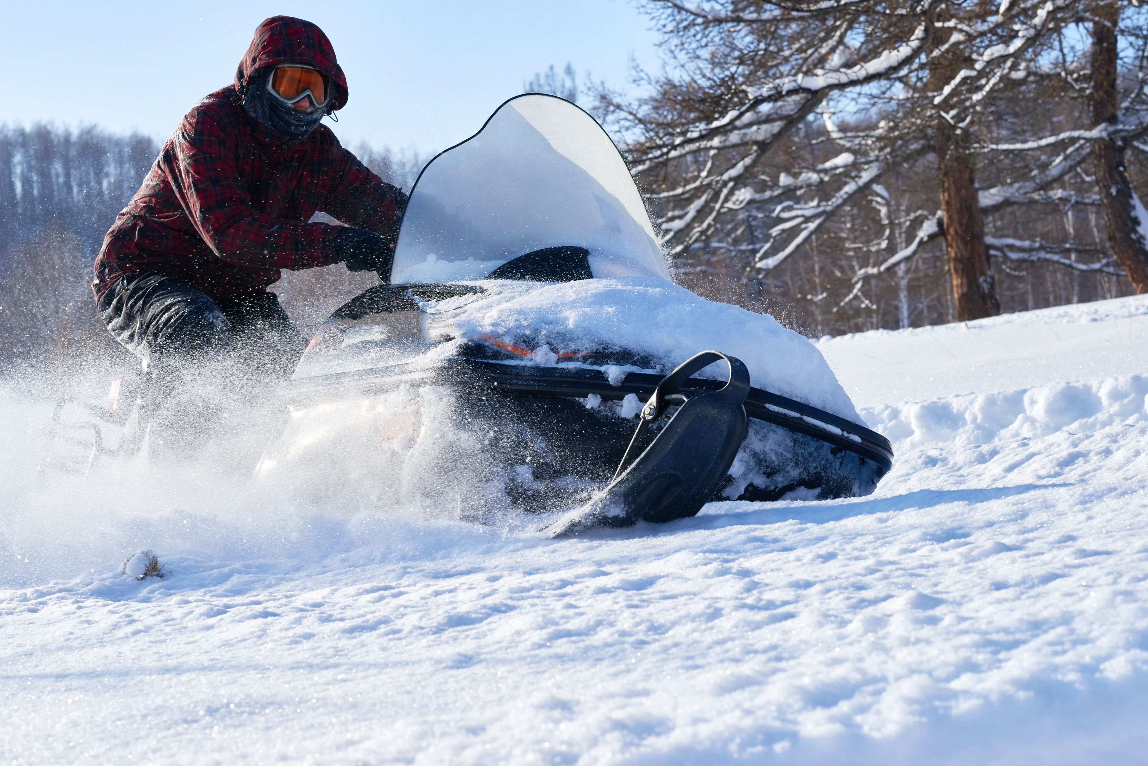Extreme snowmobile racing