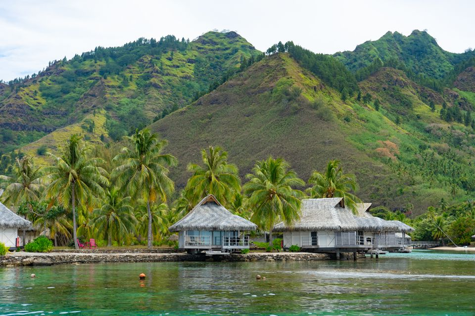 Overwater Bungalows on Tahiti