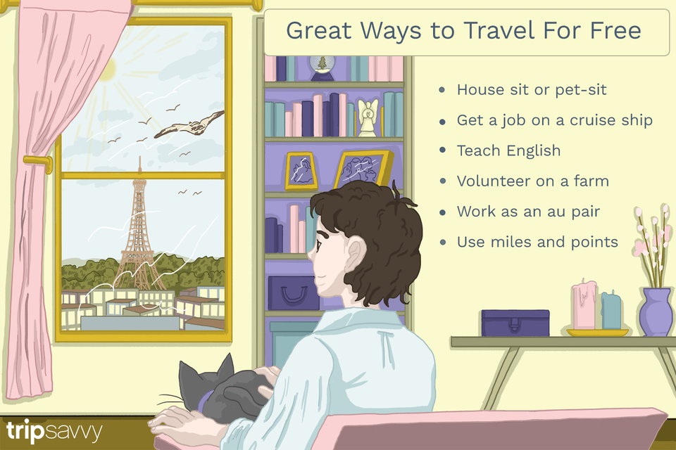 how to travel for free illustration