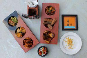 Bihari food at Potbelly Rooftop Cafe.