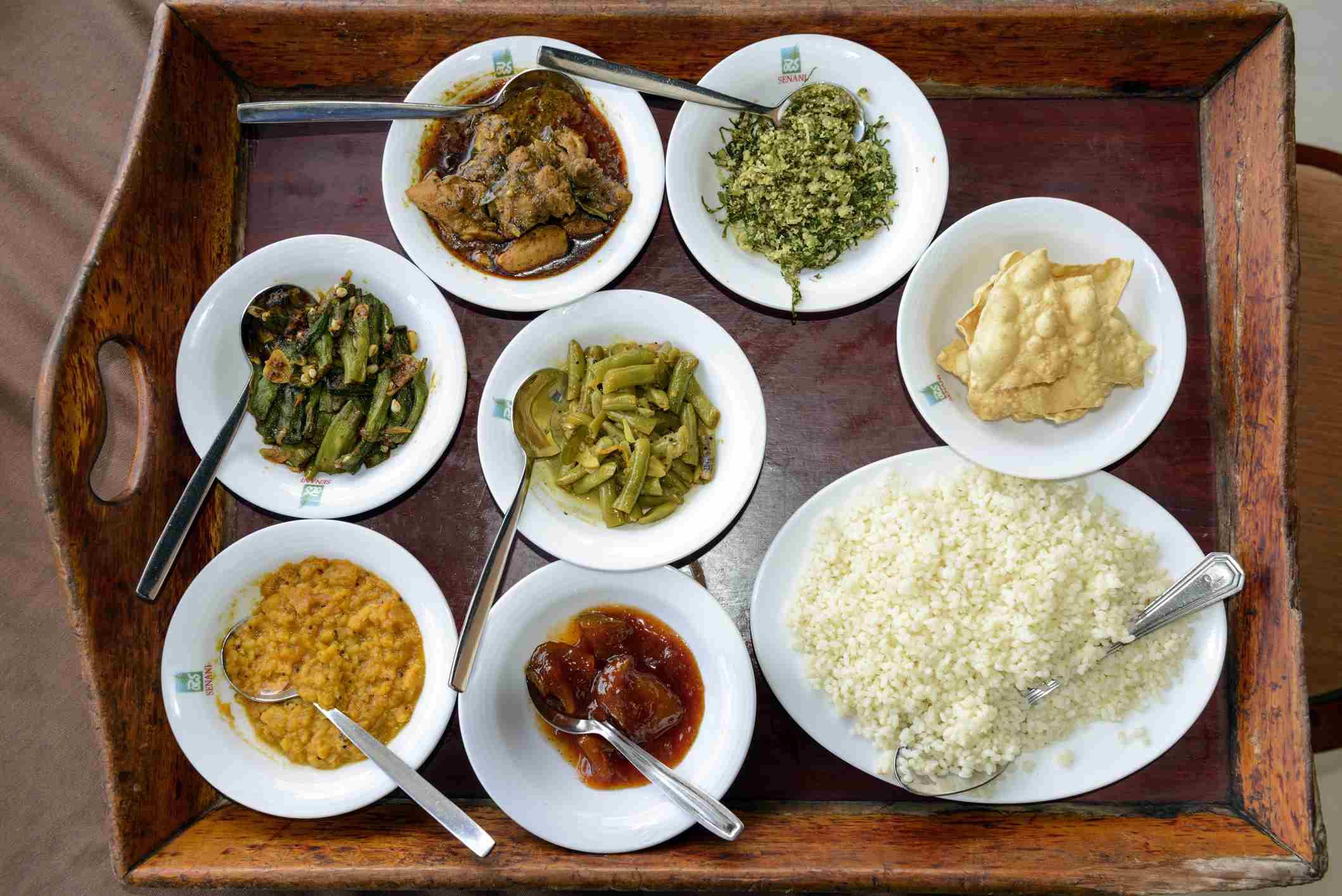 Sri Lankan curries.