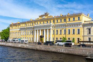 Yusupov palace on Moika river, St. Petersburg, Russia