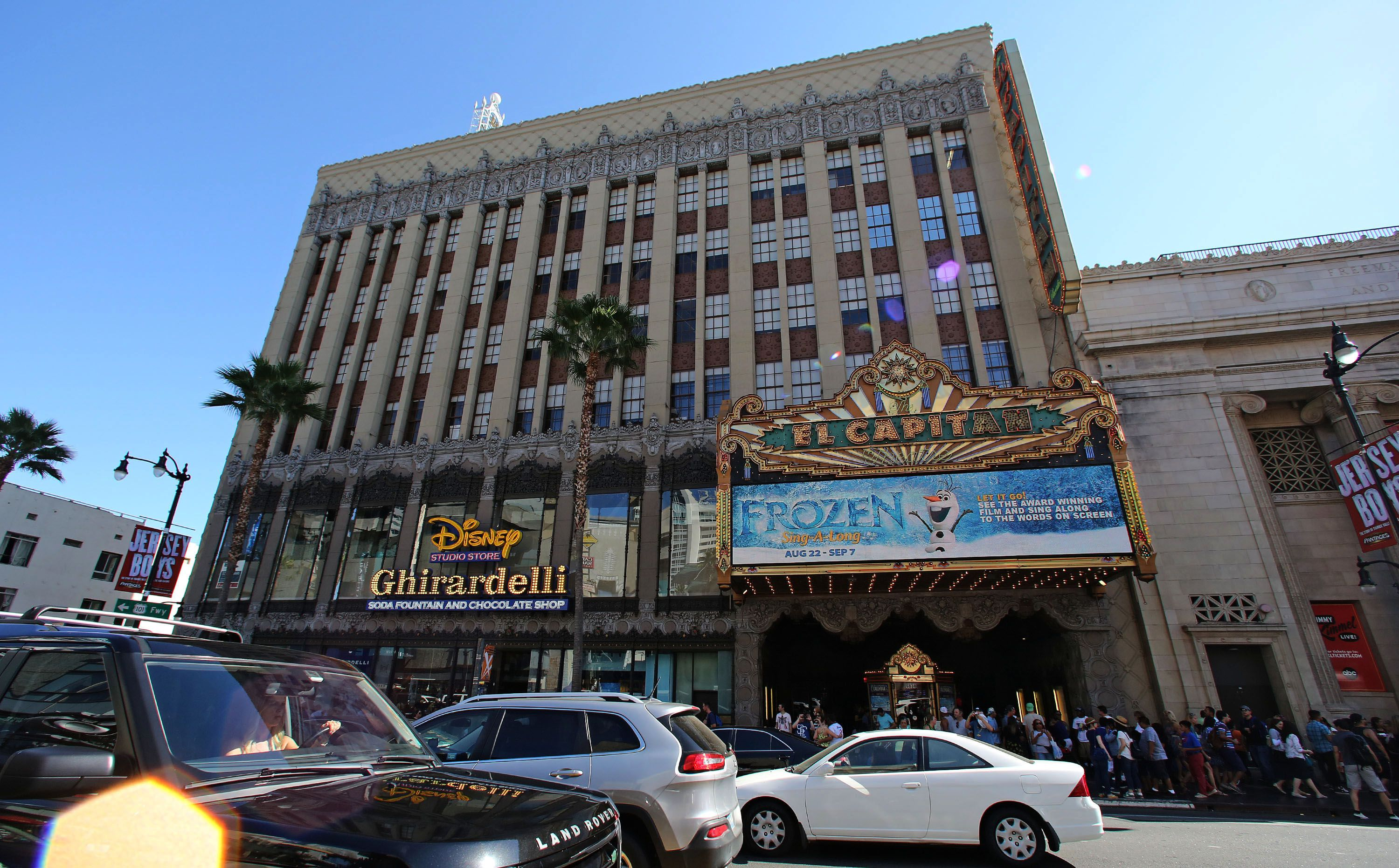 A view of El Capitan Theatre on September 01, 2014 in Los Angeles, California