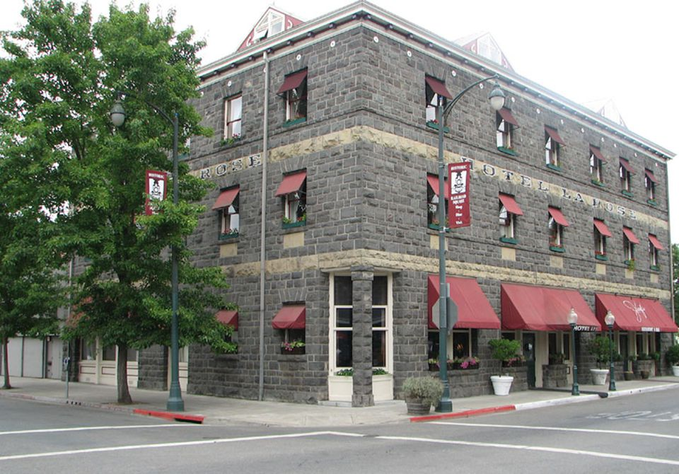 The historic Hotel La Rose in downtown Santa Rosa