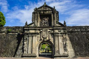 Entrance to Fort Santiago in Manila, Philippines