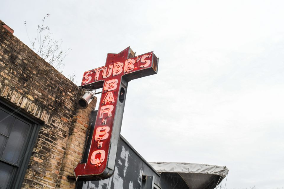 Sign for Stubb's BBQ