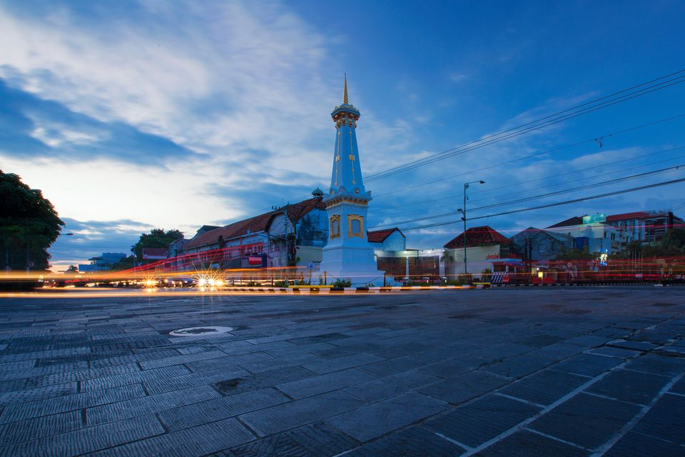The Tugu monument at the heart of Yogyakarta, Indonesia