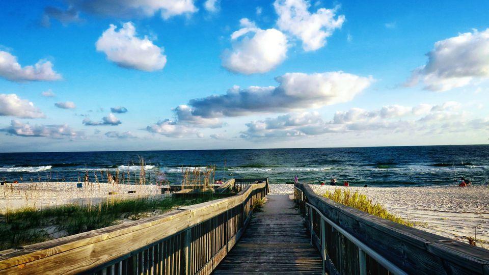 Gulf Shores, AL: Scenic View Of Sea Against Sky