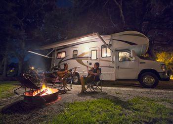 RV Camping at Night