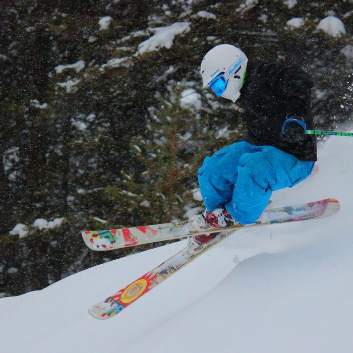Skier on Maverick Mountain