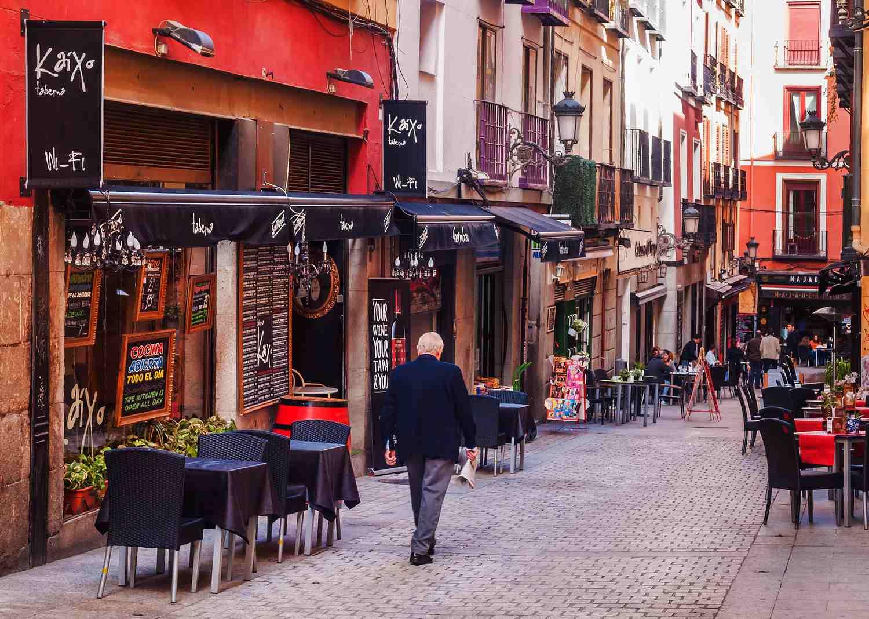 Calle de la ciudad de madrid